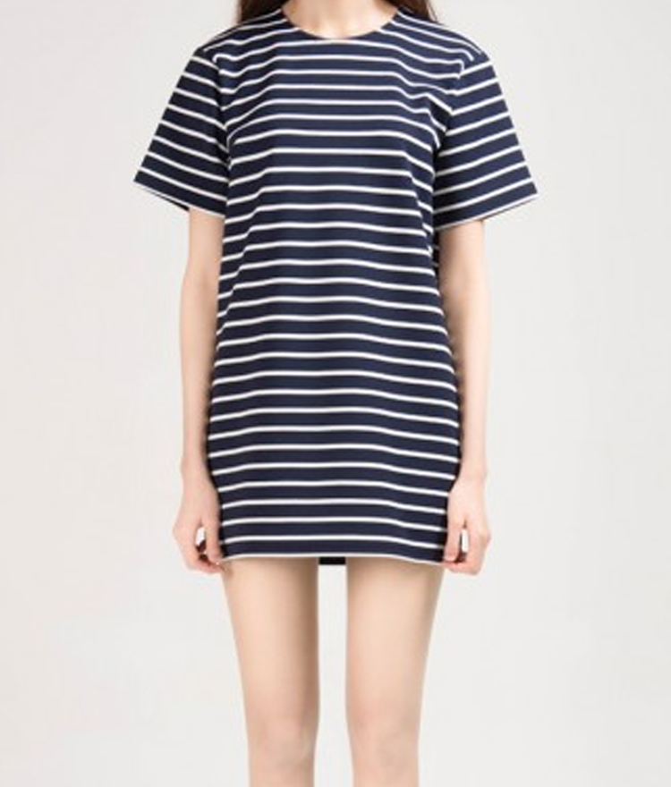 365BASICStriped T-Shirt Dress