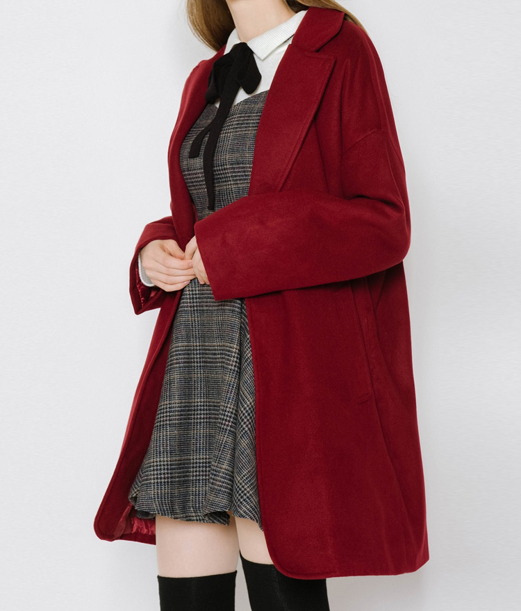 Solid-Tone Quilt Lined Coat