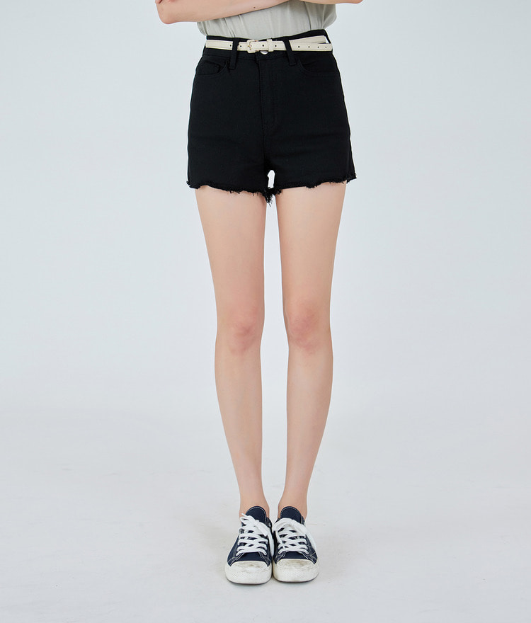 ESSAYHigh Waist Raw Hem Shorts