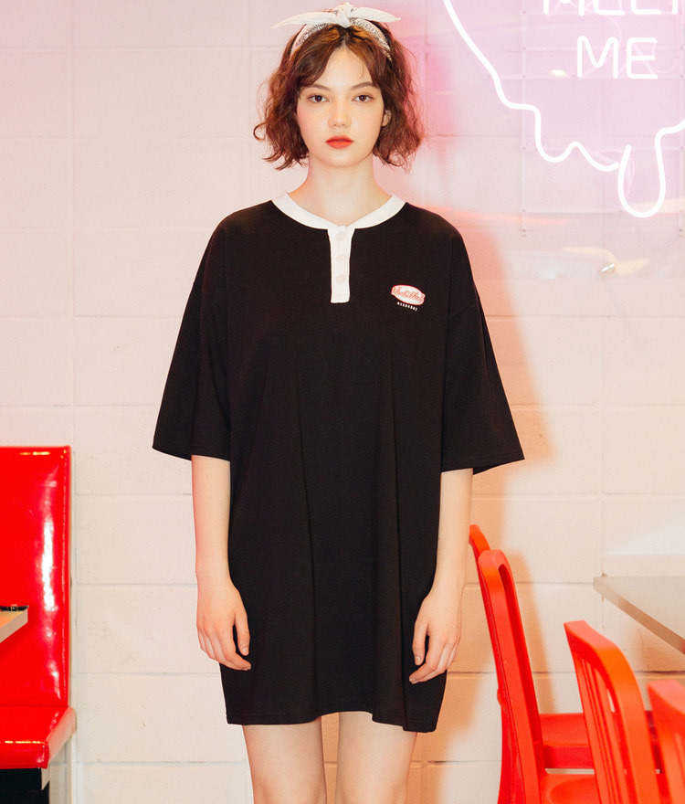 UNTITLE8Contrast Color Logo Dress