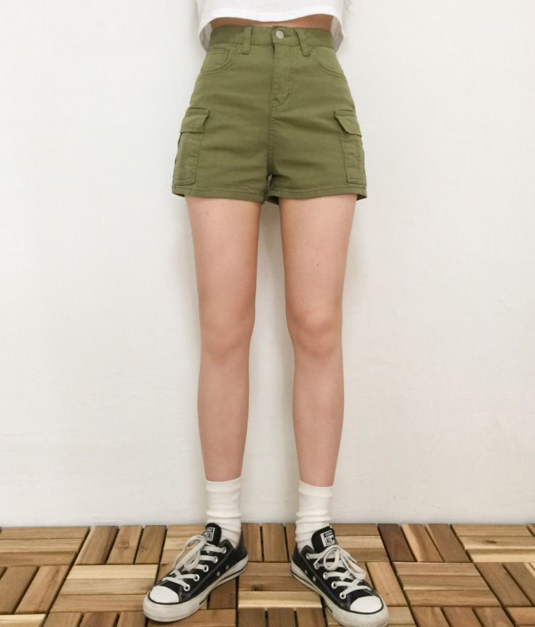 NEVERM!NDCargo Mini Shorts