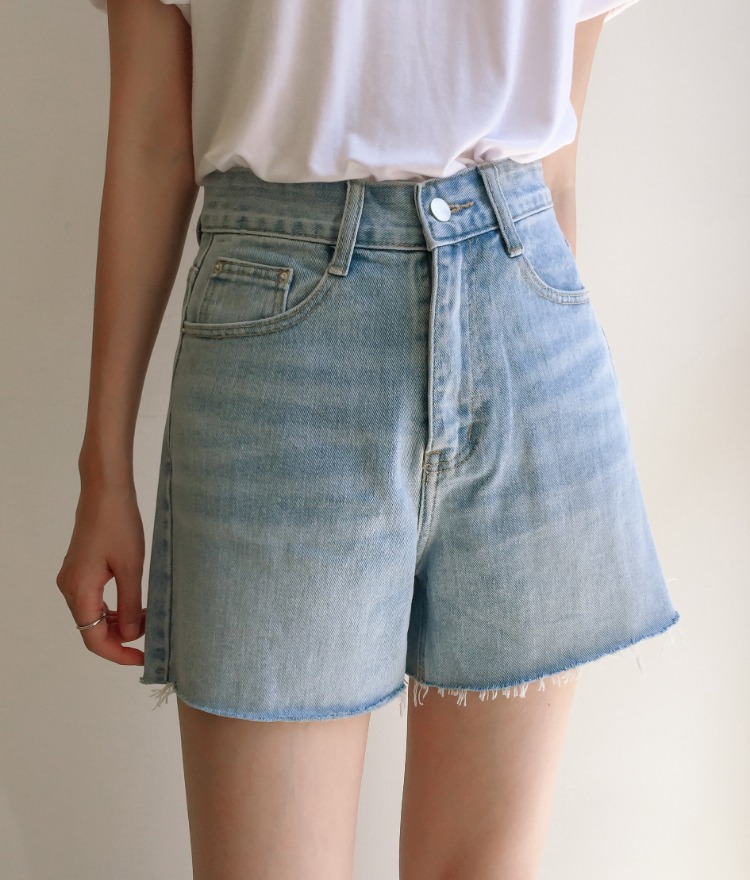 ESSAYLight Blue Whisker Wash Denim Shorts