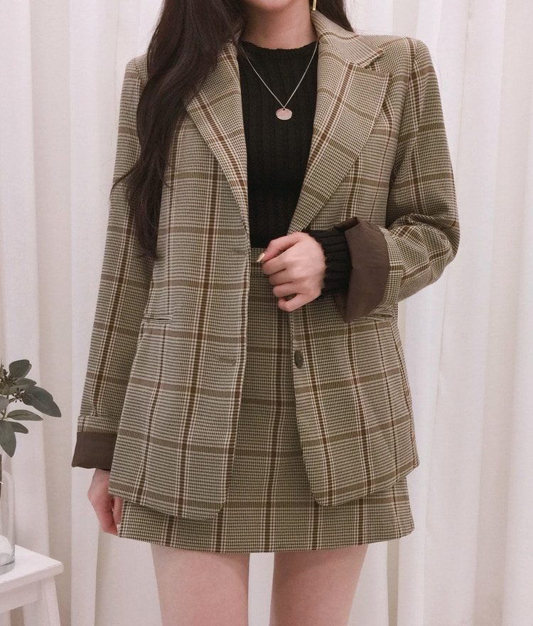ROMANTIC MUSECheck Jacket