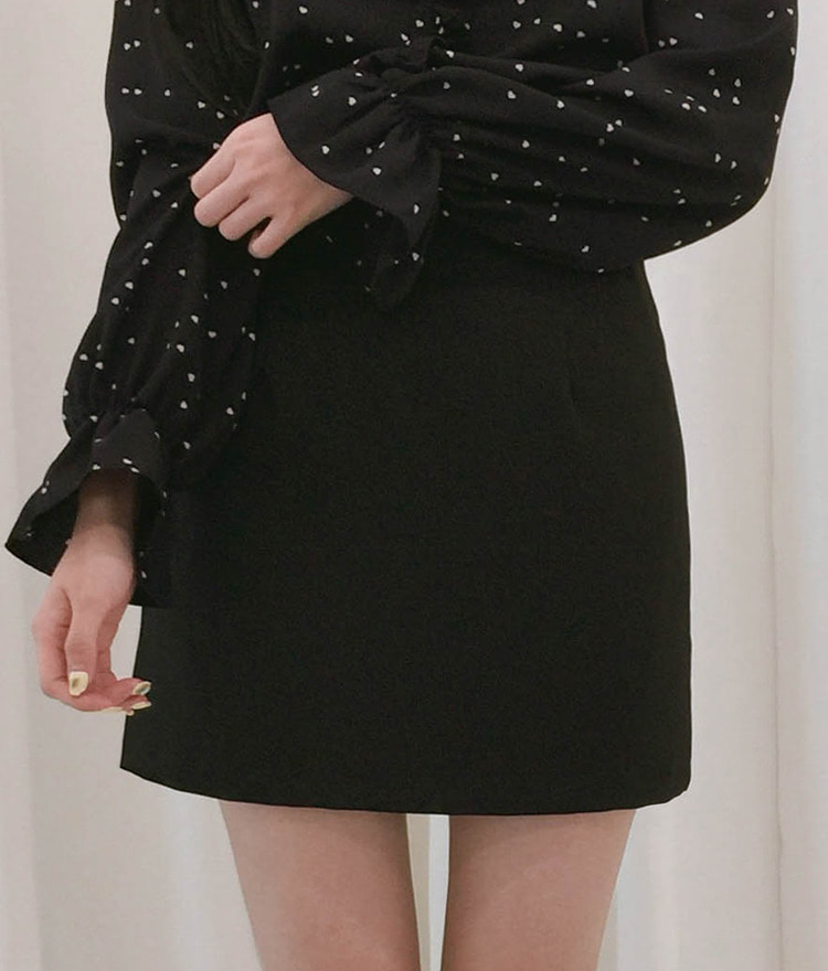 ROMANTIC MUSE  Basic High Waist Mini Skirt