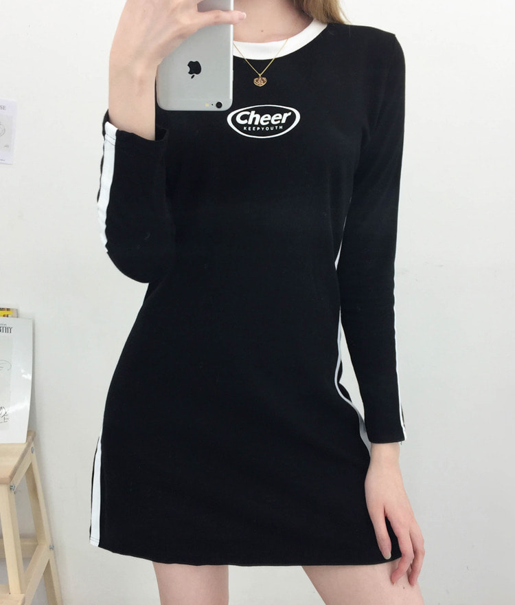 NEVERM!NDContrast Side Mini Dress