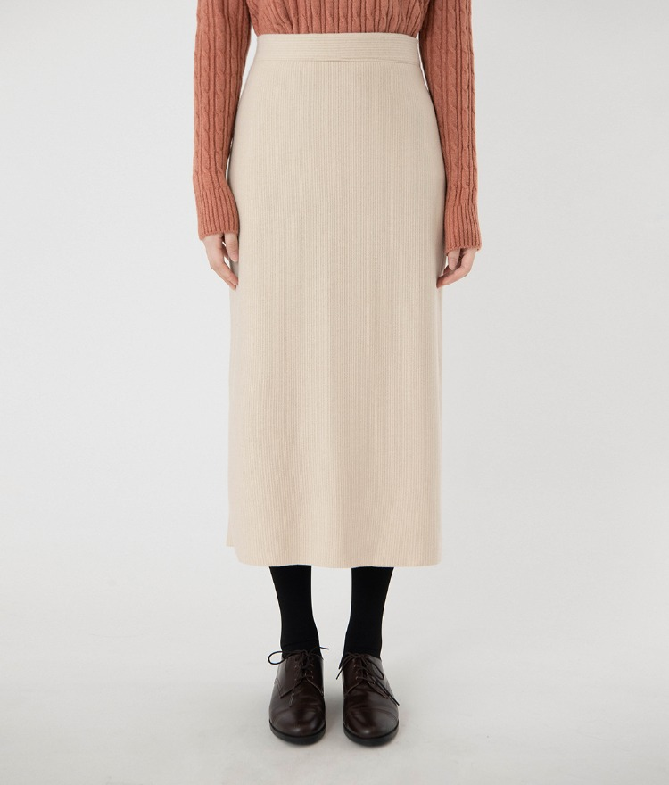 ESSAYBack Slit Mid-Calf Skirt