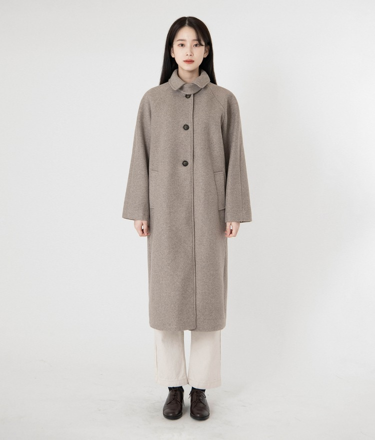 ESSAYWoolen Single-Breasted Coat