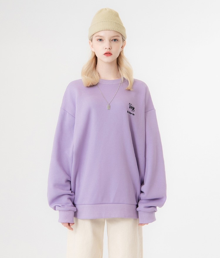 UNTITLE8Light Purple Embroidered Detail Sweatshirt
