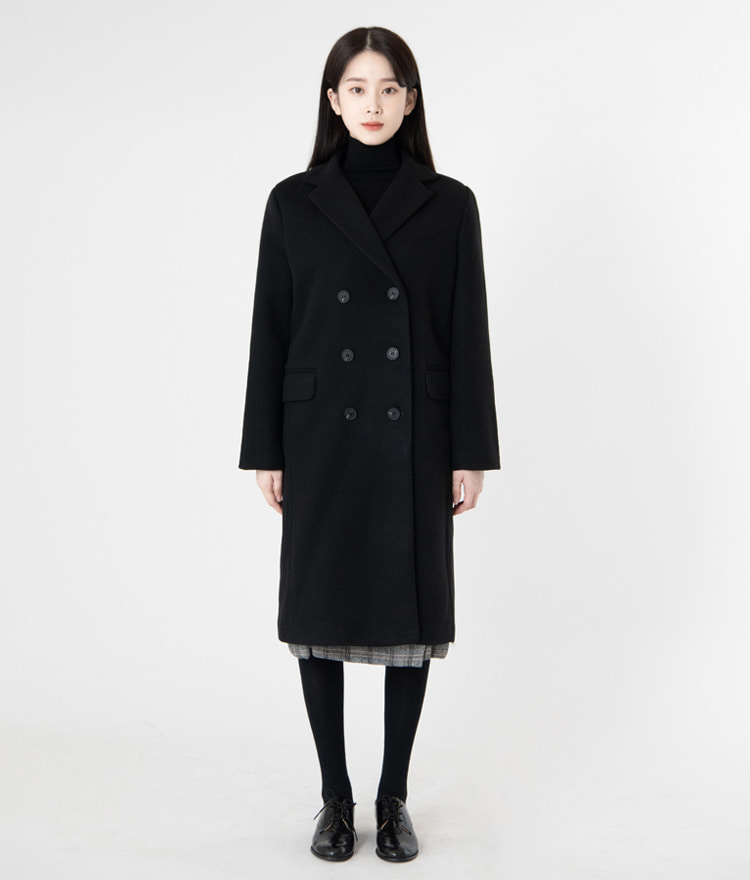 ESSAYWool Blend Double-Breasted Boxy Coat