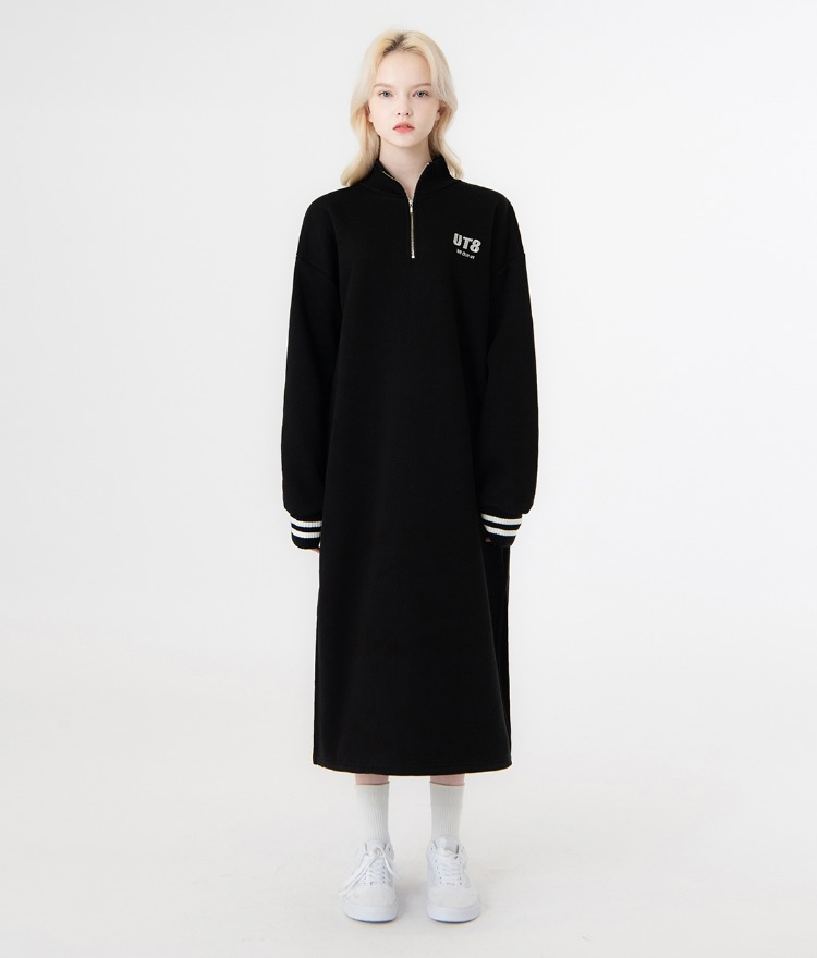 UNTITLE8Black Quarter Zip Loose Fit Dress