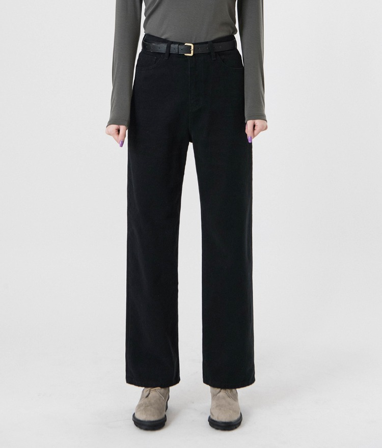 QUIETLABSolid Tone Straight-Cut Pants