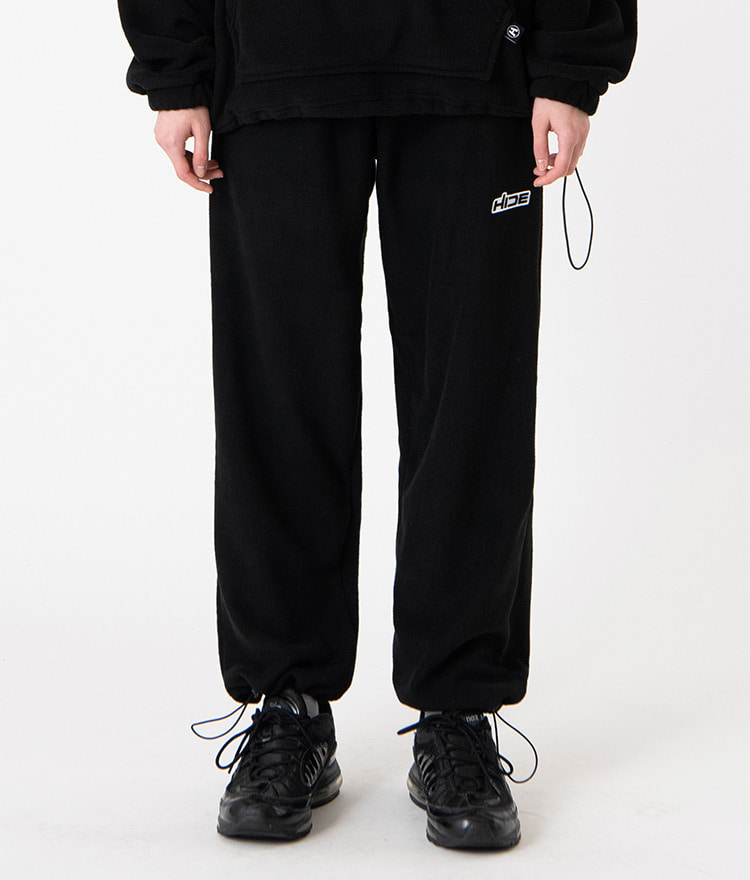 HIDEBlack Cord-Locked Hem Pants