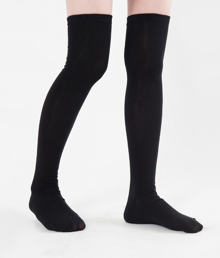Thigh-High Cotton Socks
