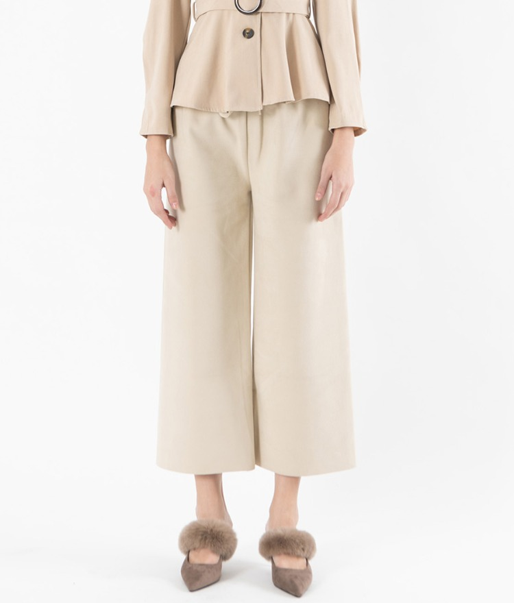 Cropped Wide Leg Pants