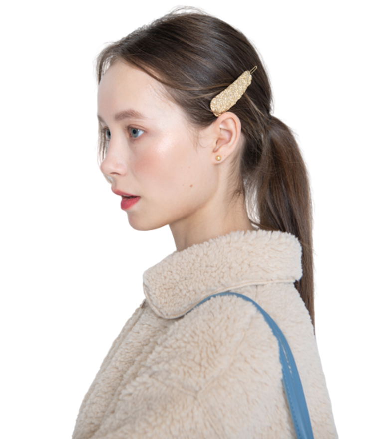 Gold-Tone Textured Hair Clip