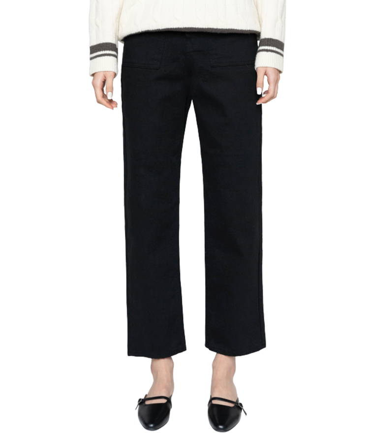 Solid Color Fleece-Lined Pants