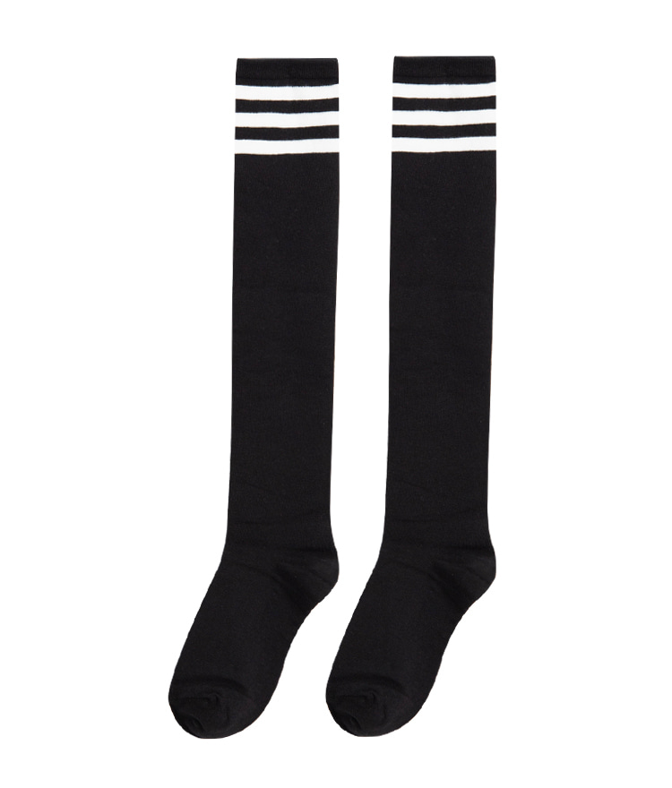 ESSAYStripe Accent Knee-High Socks