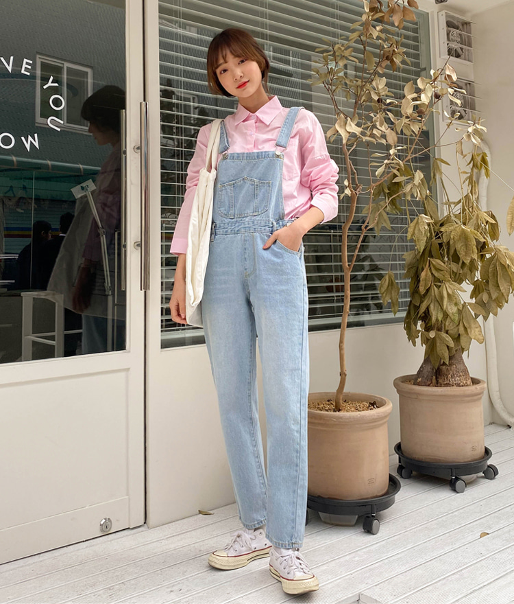 ESSAY  Faded Wash Denim Overalls