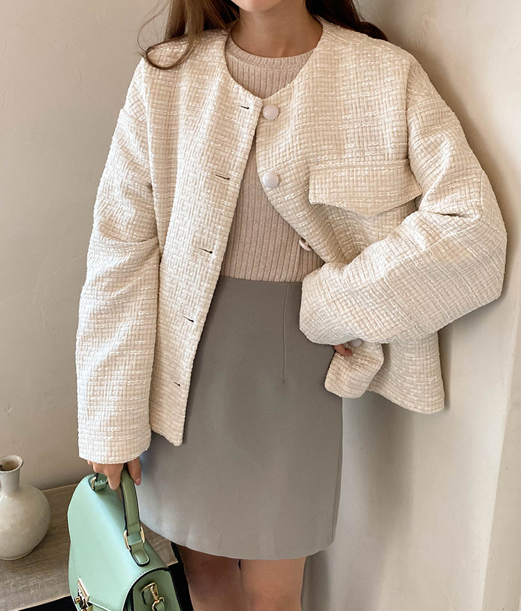 ESSAYFlap Pocket Tweed Jacket