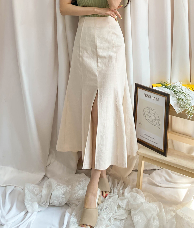 ROMANTIC MUSEFront Slit Long Mermaid Skirt