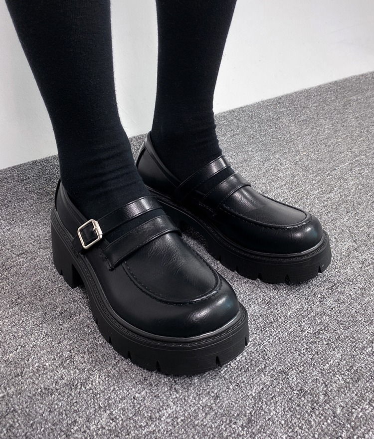 QUIETLABBlack Chunky Mary Jane Shoes