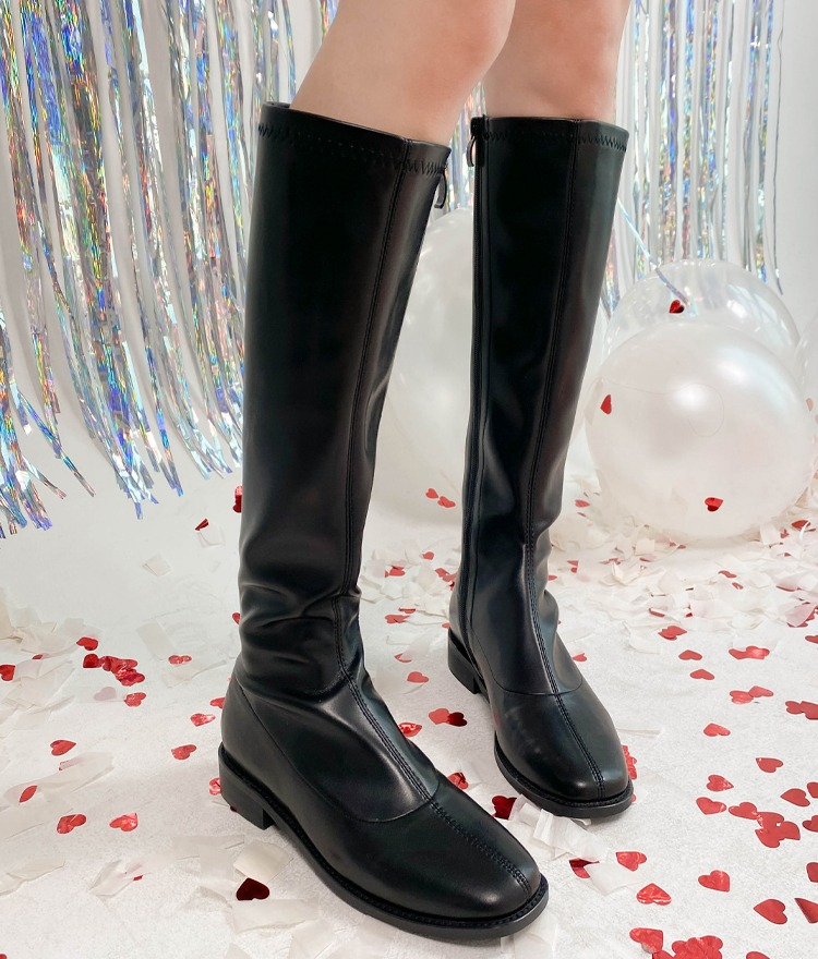 ROMANTIC MUSEFaux Leather Long Boots