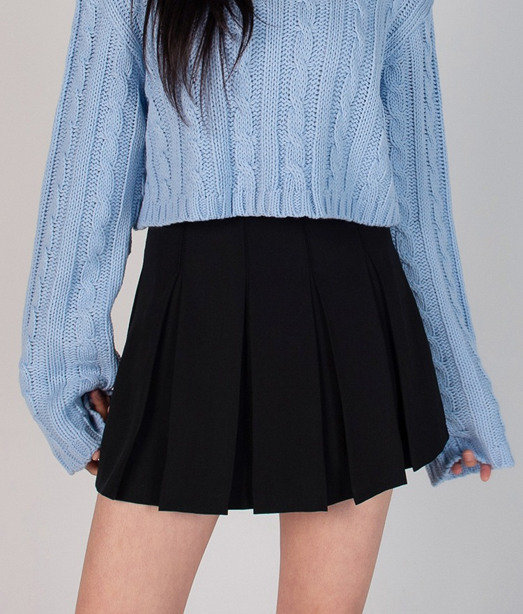 ESSAYBasic Box Pleat Mini Skirt