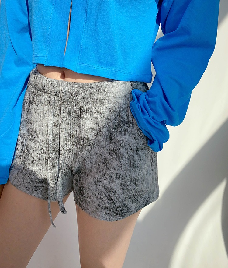 NEVERM!NDDiscolored Ribbed Shorts