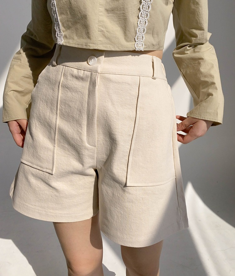 ROMANTIC MUSESemi-Elastic Waist Flared Shorts